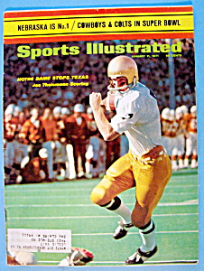 Sports Illustrated Magazine-January 11, 1971-Theismann (Image1)