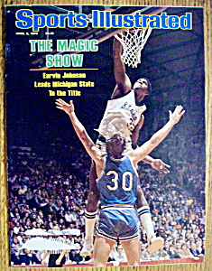 Sports Illustrated Magazine-april 2, 1979-magic Johnson