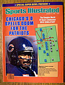 Sports Illustrated Magazine-January 27, 1986-Singletary (Image1)