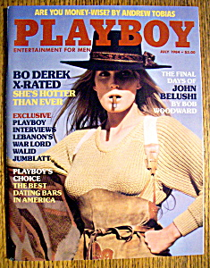 Playboy Magazine-july 1984-liz Stewart