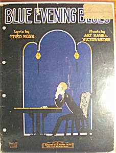 Sheet Music For 1924 Blue Evening Blues