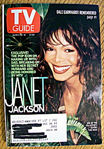 Tv Guide-march 10-16, 2001-janet Jackson