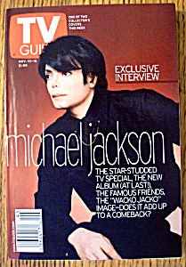 Tv Guide-november 10-16, 2001-michael Jackson