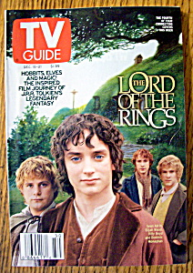Tv Guide-december 15-21, 2001-the Lord Of The Rings