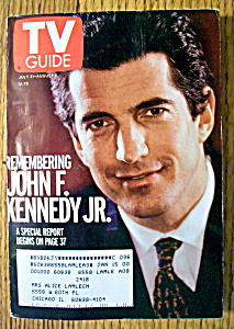 Tv Guide-july 31-august 6, 1999-john F. Kennedy Jr