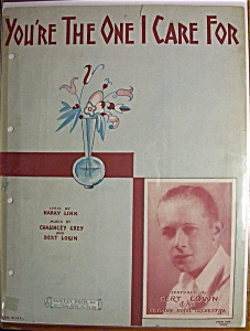 Sheet Music For 1930 You're The One I Care For