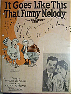 Sheet Music - 1928 It Goes Like This That Funny Melody (Image1)