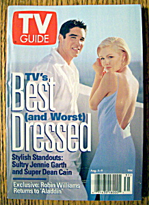 Tv Guide-august 3-9, 1996-jennie Garth/dean Cain