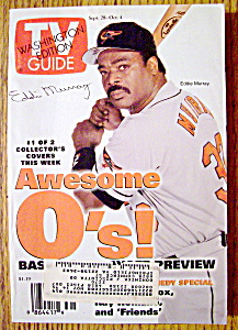 Tv Guide-september 28-october 4, 1996-eddie Murray