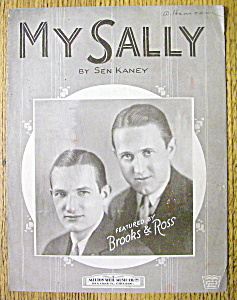 Sheet Music For 1924 My Sally