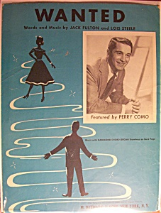 Sheet Music For 1954 Wanted