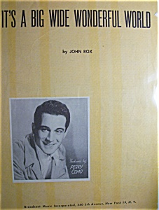 Sheet Music For 1940 It's A Big Wide Wonderful World (Image1)