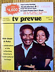 TV Prevue-March 8, 1981-Ossie Davis & Ruby Dee (Image1)