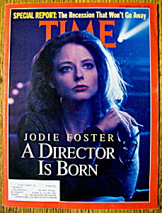 Time Magazine-october 14, 1991-jodie Foster