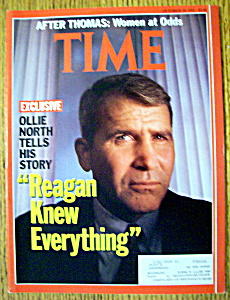 Time Magazine-october 28, 1991-oliver North