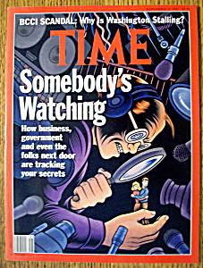 Time Magazine-november 11, 1991-somebody's Watching