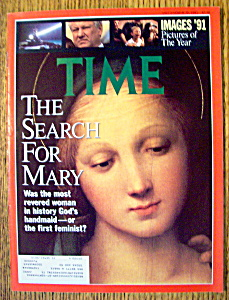 Time Magazine-december 30, 1991-search For Mary