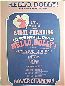Sheet Music For 1963 Hello, Dolly By Jerry Herman