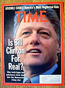 Time Magazine-january 27, 1992-bill Clinton