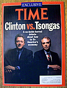 Time Magazine-march 23, 1992-clinton & Tsongas