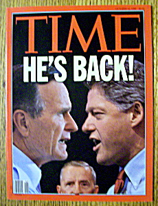 Time Magazine-october 12, 1992-clinton & Bush