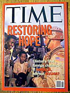 Time Magazine-december 21, 1992-restoring Hope