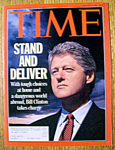 Time Magazine-january 25, 1993-bill Clinton