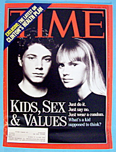 Time Magazine-may 24, 1993-kids, Sex & Values