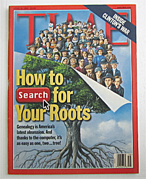 Time Magazine-april 19, 1999-genealogy