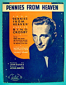 Sheet Music For 1936 Pennies From Heaven