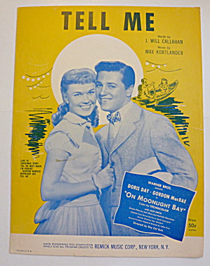 Sheet Music For 1959 Tell Me With Day & Macrae