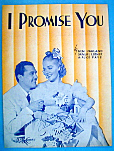 Sheet Music For 1938 I Promise You