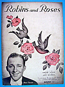 Sheet Music For 1936 Robins And Roses (Bing Crosby) (Image1)