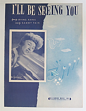 1938 I'll Be Seeing You Sheet Music Sammy Fain