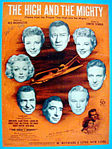 Sheet Music For 1954 The High And The Mighty