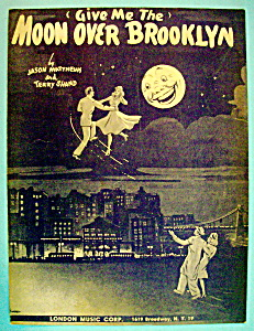 Sheet Music For 1946 Moon Over Brooklyn