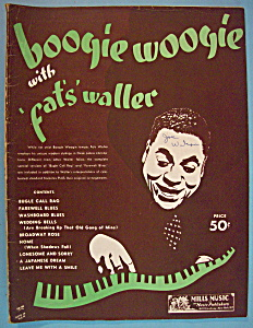 Sheet Music For 1941 Boogie Woogie With Fats Waller