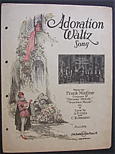 Sheet Music For 1924 Adoration Waltz Song