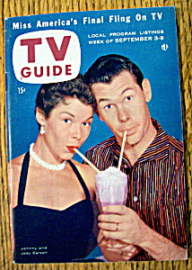 Tv Guide-september 3-9, 1955-johnny & Jody Carson