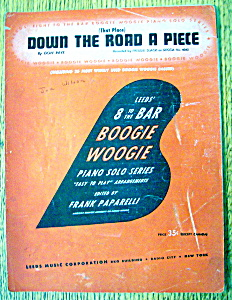 Sheet Music For 1943 Down The Road A Piece (Image1)