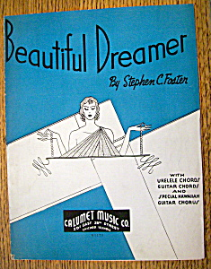 Sheet Music For 1936 Beautiful Dreamer (Image1)
