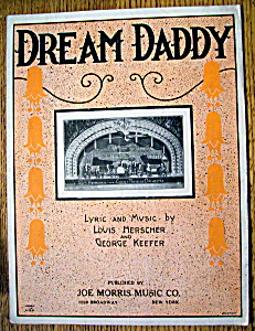 Sheet Music For 1923 Dream Daddy By George Keefer