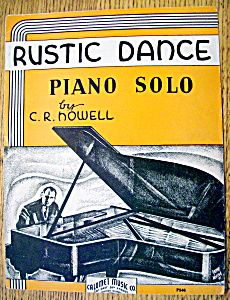 Sheet Music For 1935 Rustic Dance