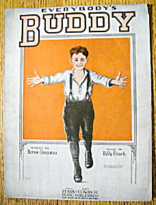 Sheet Music For 1920 Everybody's Buddy