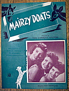 Sheet Music For 1943 Mairzy Doats (Image1)