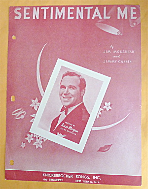 Sheet Music For 1950 Sentimental Me (Russ Morgan Cover)