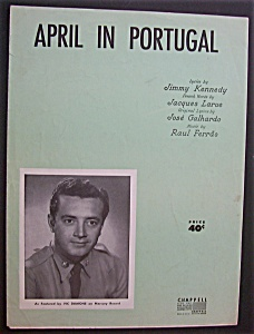 Sheet Music For 1953 April In Portugal