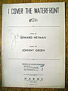 Sheet Music For 1933 I Cover The Waterfront
