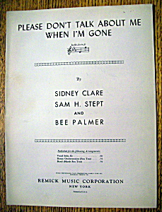 Sheet Music For 1930 Please Don't Talk About Me