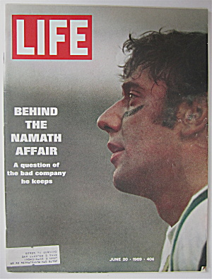 Life Magazine-june 20, 1969-joe Namath